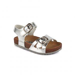 Кожаные сандалии с ремешками для девочек