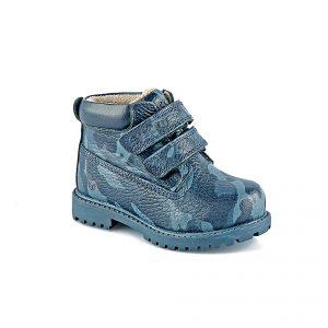 Кожаные ботинки на липучках