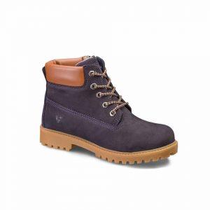 Кожаные ботинки на шнурках
