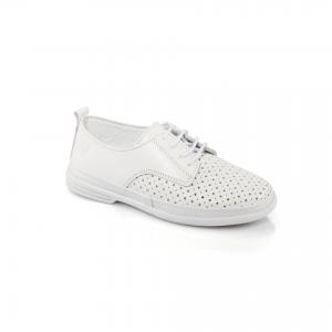 Кожаная летняя обувь на шнуровке